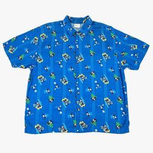 Disney Store Hawaiian Shirt Mens XL Mickey Mouse